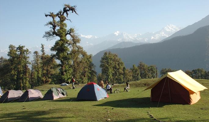 Camping at Chopta