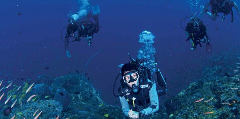 Scuba Diving in Barren Island