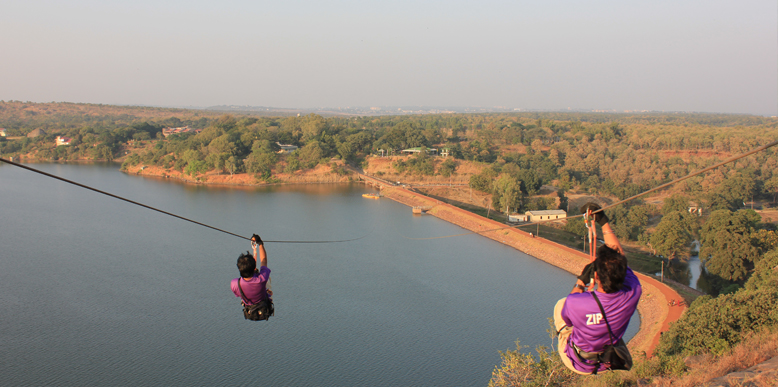 Ziplining at Kerwa Dam
