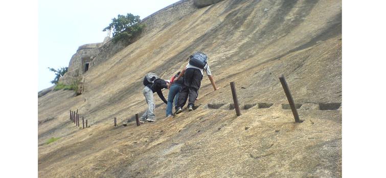 Madhugiri Rock Climbing