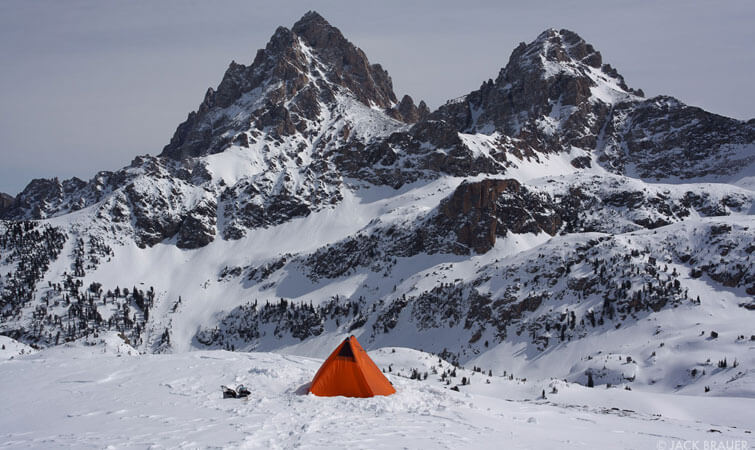 Tent on Pass Summit