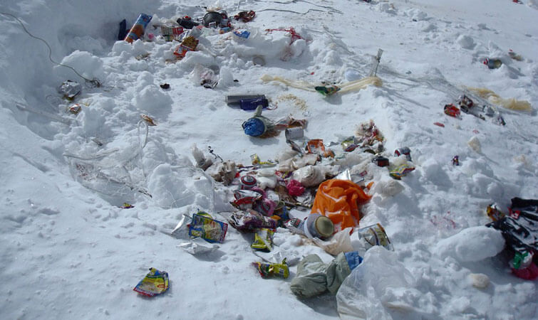 Trash in the Himalayas