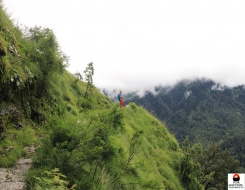 Trekking in Lamkhaga Pass